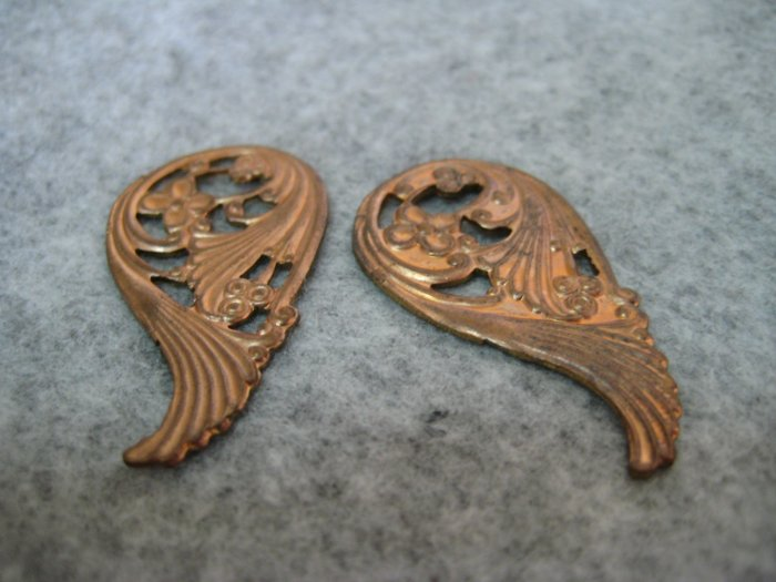 Filigree, 20mmx37mm, 1pair