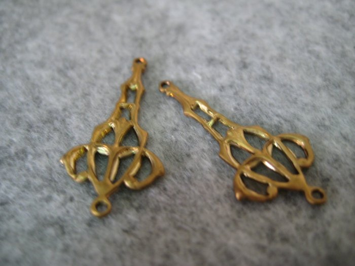 Filigree, 13mmx28mm, 1pair