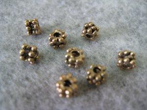 Bali Beads, 4mmx3mm, 10pcs