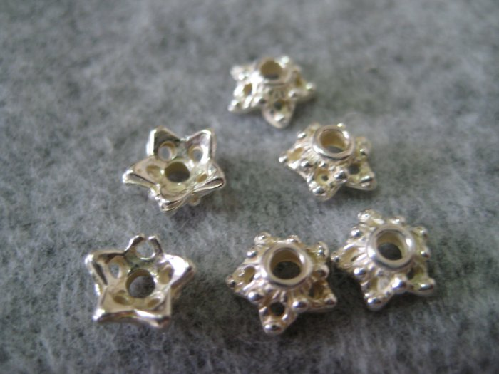 Bali Bead Caps, 3mmx8mm, 6pcs