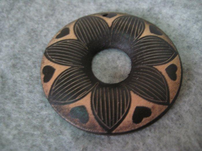 Wooden Filigree, 2pcs, 50mm