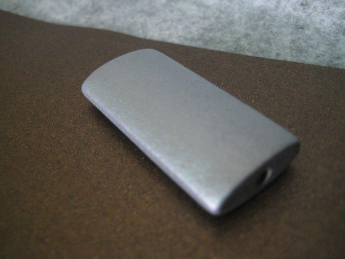 Wooden Bead, Matt Silver, 19mm x 40mm, 4pcs
