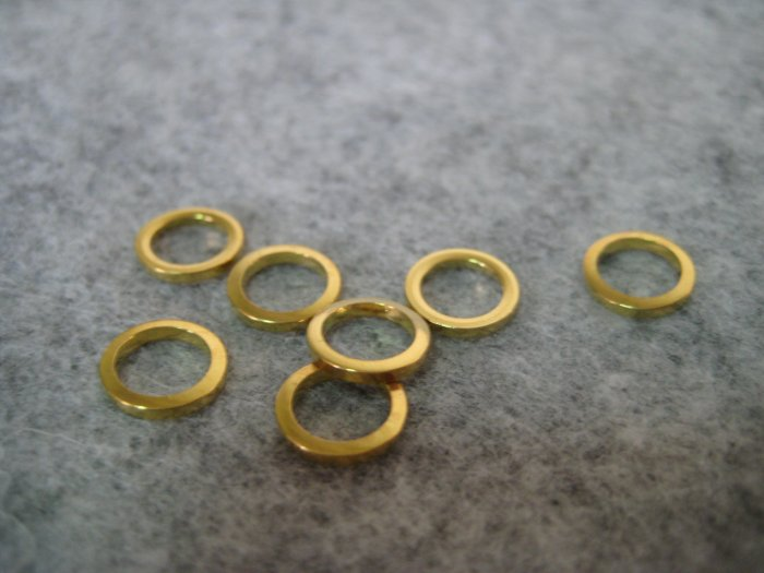 Rings, 8mm, 8pcs