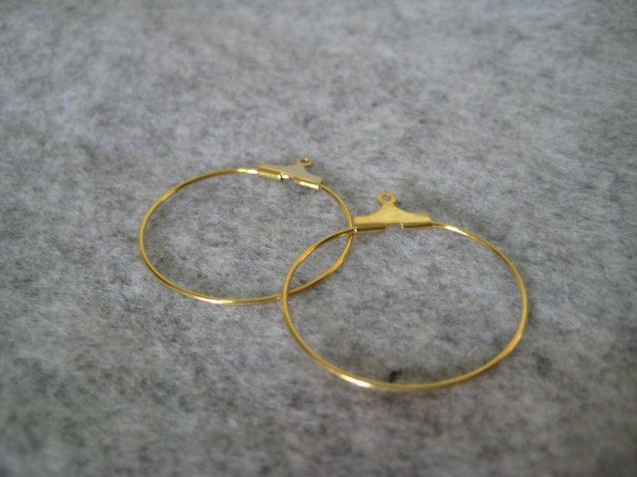 Hoop, 25mm, 2 pairs