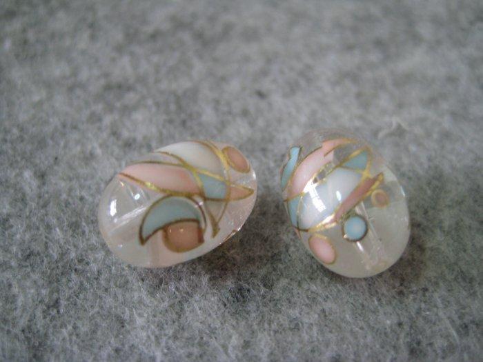 Japanese Tensha, Oval, 10mmx14mm, 1 pair