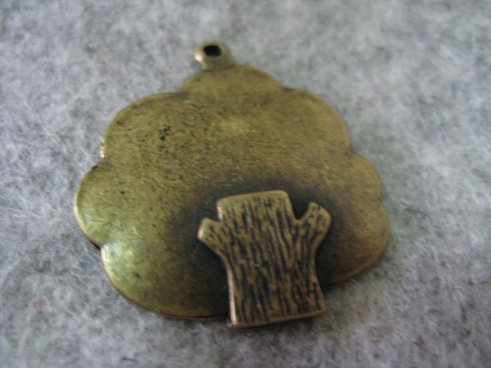 Tree Charm, Antique Brass, 24mm x 26mm