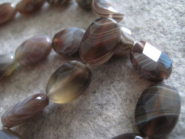 Agate Beads, 1 strand (14pcs)