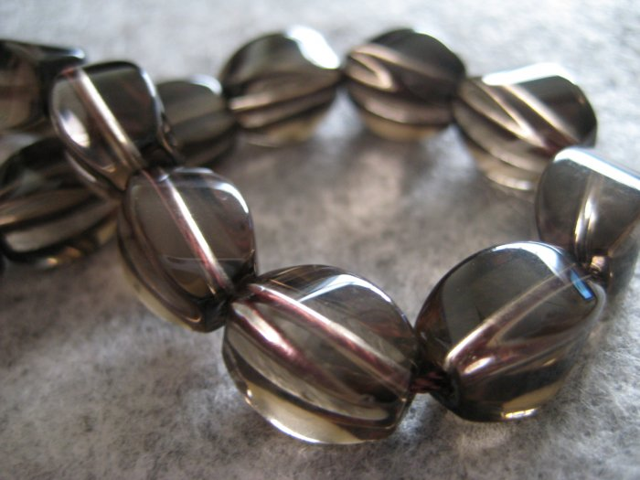 Smokey Quartz Beads, 10pcs