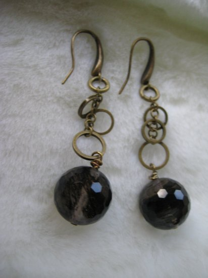 Art Deco Black ~ Earrings