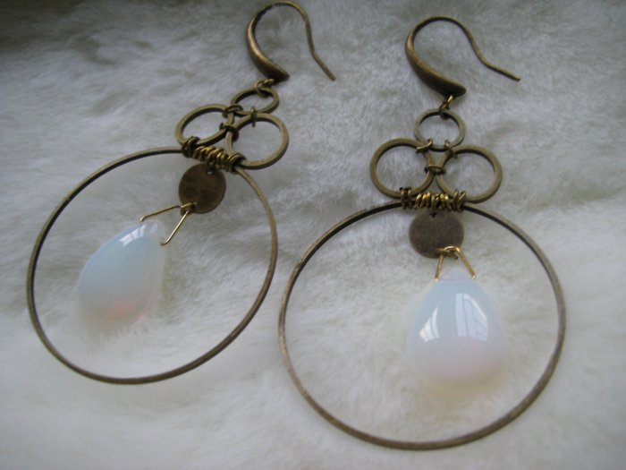 Art Deco Moon ~ Earrings