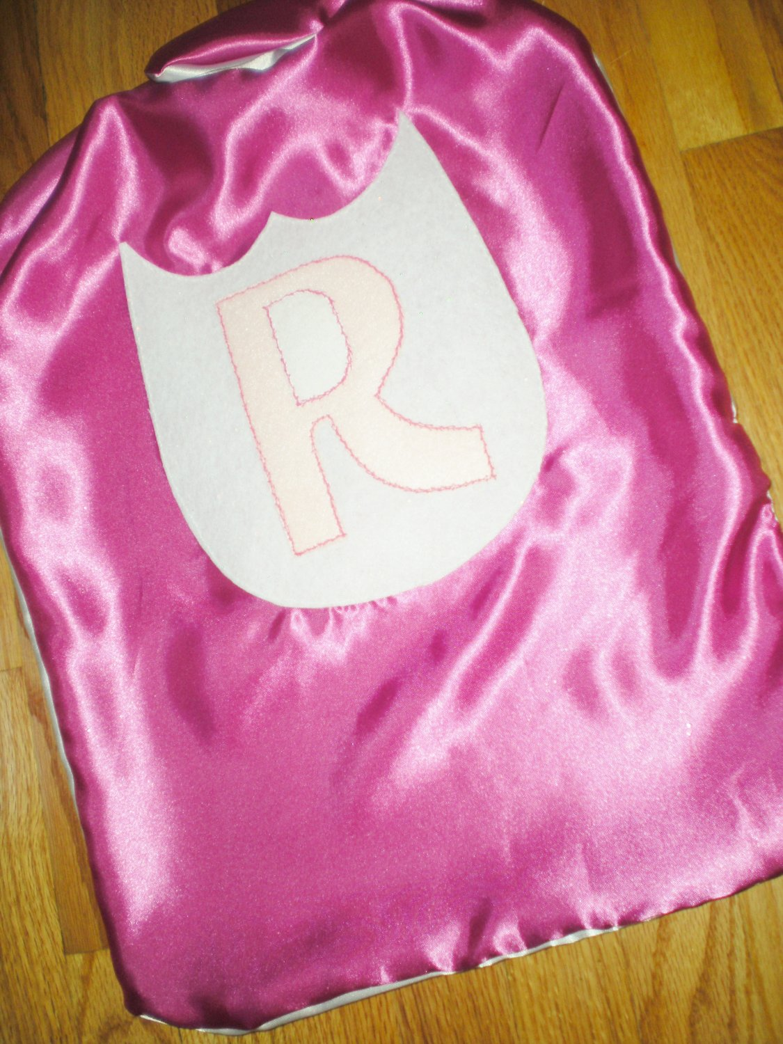 White and Pink Super Hero Cape