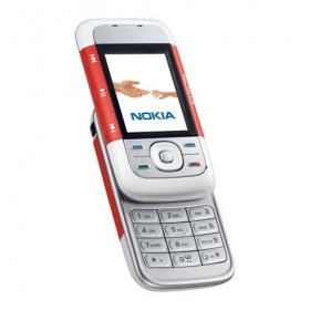 Nokia 5200 Cell Phone/ Unlocked / Red / Refurbished/ Free Shipping