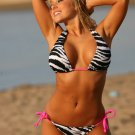 UjENA Hot Zebra Colombian Tie Bikini Swimsuit XS S M L LL AA-D