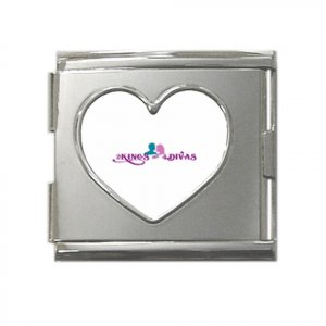 Mega Link Heart Italian Charm (18mm)