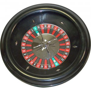"18"" Durable Roulette Wheel - Professionally Balanced Steel Linear Bearing Wheel"