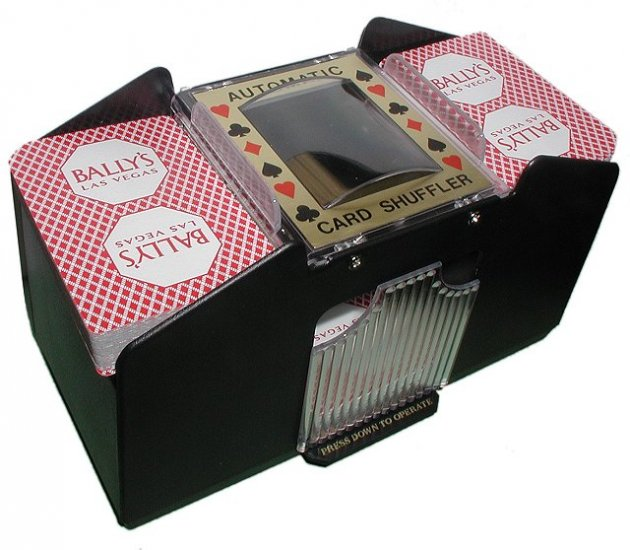 4 Deck Automatic Card Shuffler for Poker, Blackjack, Bridge