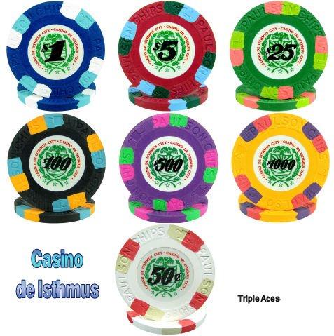 25 Paulson (James Bond) Casino de Isthmus Poker Chips - 9.5g