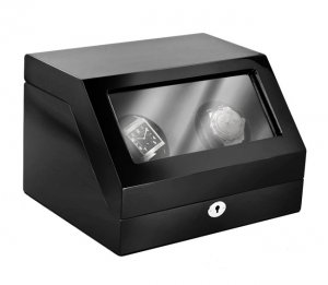 Eilux Double Automatic Classic Watch Winder - Piano Black