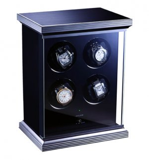 Eilux Quad Automatic Watch Winder - Black