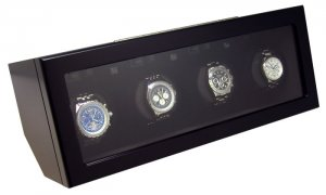 Heiden Prestige Automatic Quad Watch Winder - Black