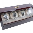 Heiden Automatic Quad Watch Winder - Cherry Wood