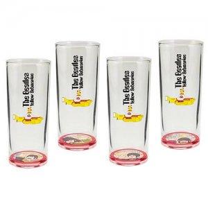 Vandor The Beatles Yellow Submarine 4-Piece 10-Ounce Drinking Glass Set