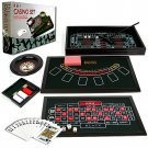 4 in 1 Casino Home Game Set - Roulette, Blackjack, Poker, and Craps