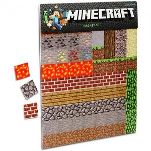 Minecraft Magnet Set - 2 Sheets - 160 Total Pieces - Licensed
