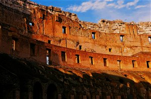 Inside the Coliseum, Rome, Italy