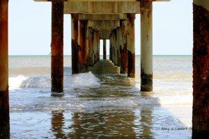 St. Augustine Beach Pier - Digital Art Print 8 x 10