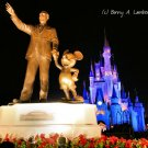 Partner's Statue and Cinderella Castle - Magic Kingdom - Digital Art Print 8 x 10