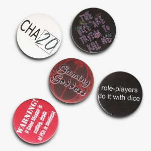 2.25 Inch Gamer Geek Pack Buttons