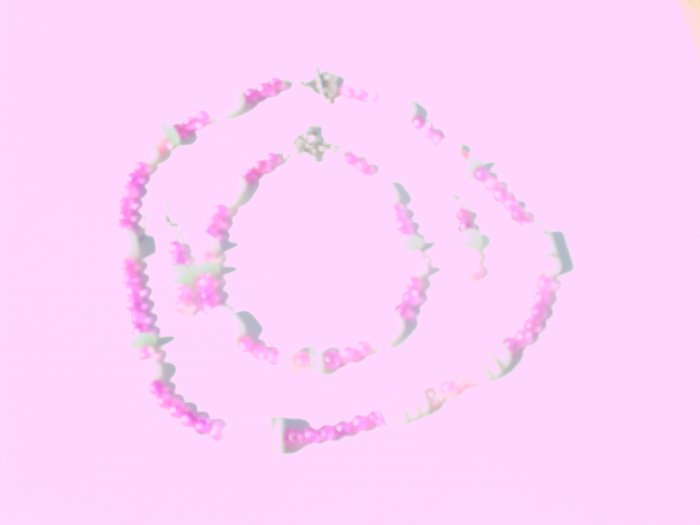 Green Pink and White Set