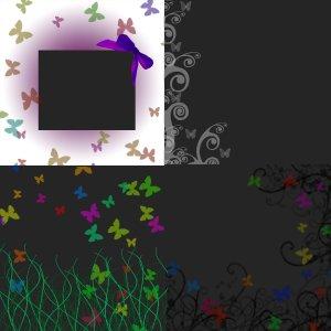 Digital Scrapbook Butterfly Overlays