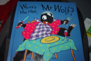 """""""What's the time, Mr. Wolf"""" kids book"""