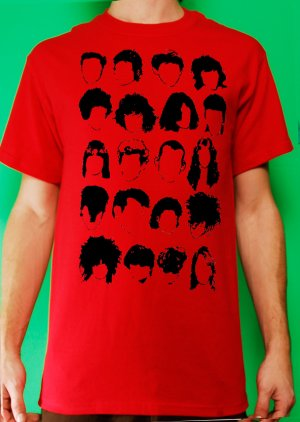 History of Rock N Roll Hair Mens Red T-shirt