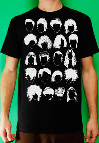 History of Rock N Roll Hair Mens Black T-shirt