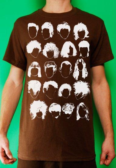 History of Rock N Roll Hair Mens Brown T-shirt