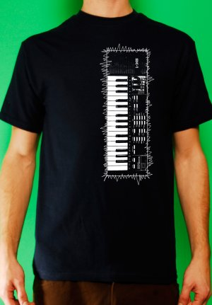 Casio sk-1 sampling synth keyboard analog retro vintage Mens Navy t-shirt