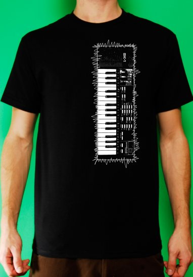 Casio sk-1 sampling synth keyboard analog retro vintage Mens Black t-shirt