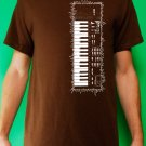Casio sk-1 sampling synth keyboard analog retro vintage Mens Brown t-shirt