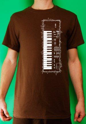 Casio sk-1 sampling synth keyboard analog retro vintage Mens Brown t-shirt
