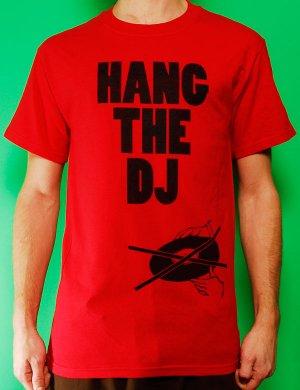 Hang the DJ Mens Red T-shirt