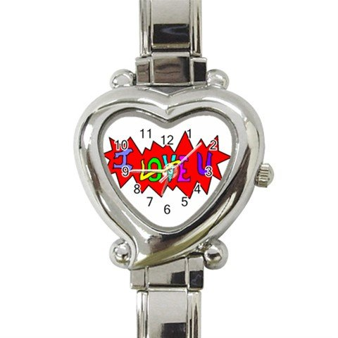 I Love U Heart Italian Charm Watch BRAND NEW!
