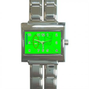 I Love you in Green Megalink Italian Charm Watch