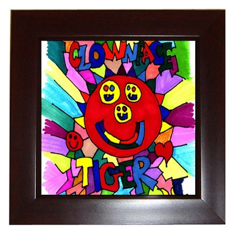 Clownface Tiger Framed Tile