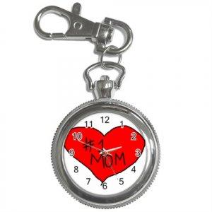 # 1 Mom in Heart Key Chain / Pocket Watch