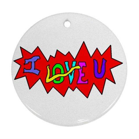 I Love U Ornament (Round)