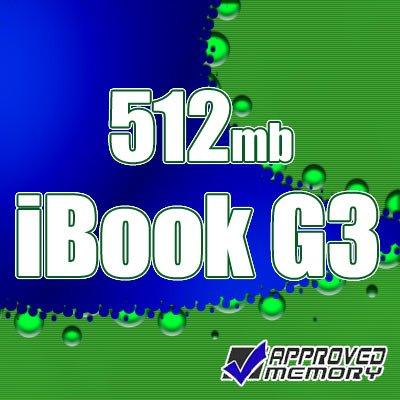 512MB RAM Memory Apple iBook Flat Panel G3 500MHz 600MHz 700MHz 800MHz 900MHz
