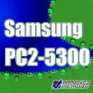 2x1GB PC2-5300 667MHz DDR2 Unbuffered SAMSUNG Original Memory Kit for Apple iMac Intel